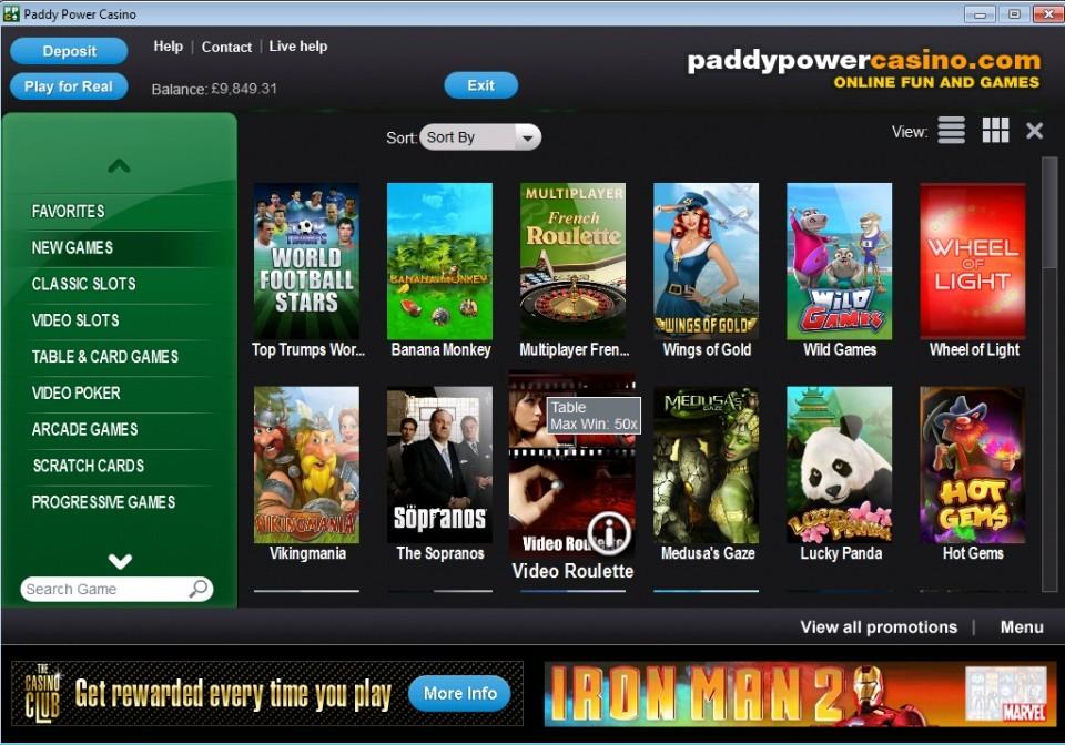 Paddy Power Casino Download
